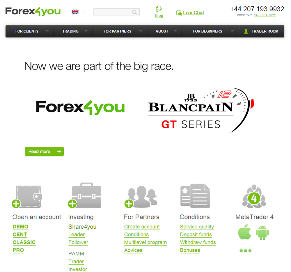 Forex4you Reseña