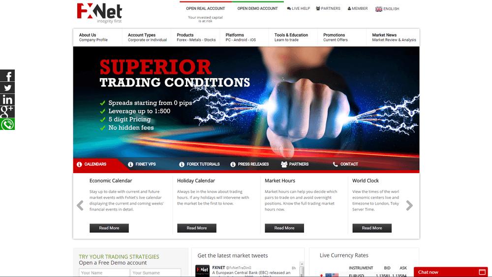 Fxnet forex broker