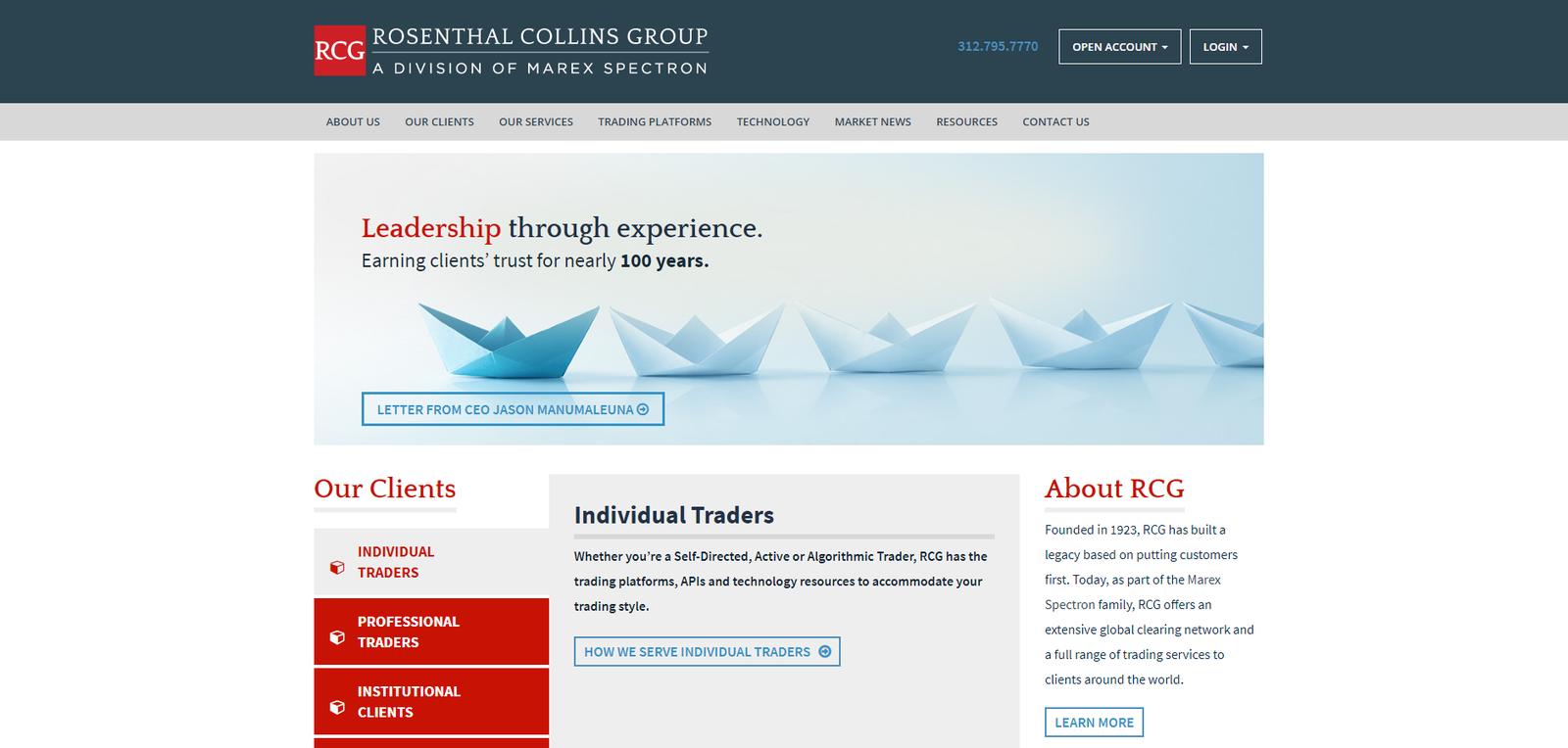 Rosenthal Collins Group รีวิว